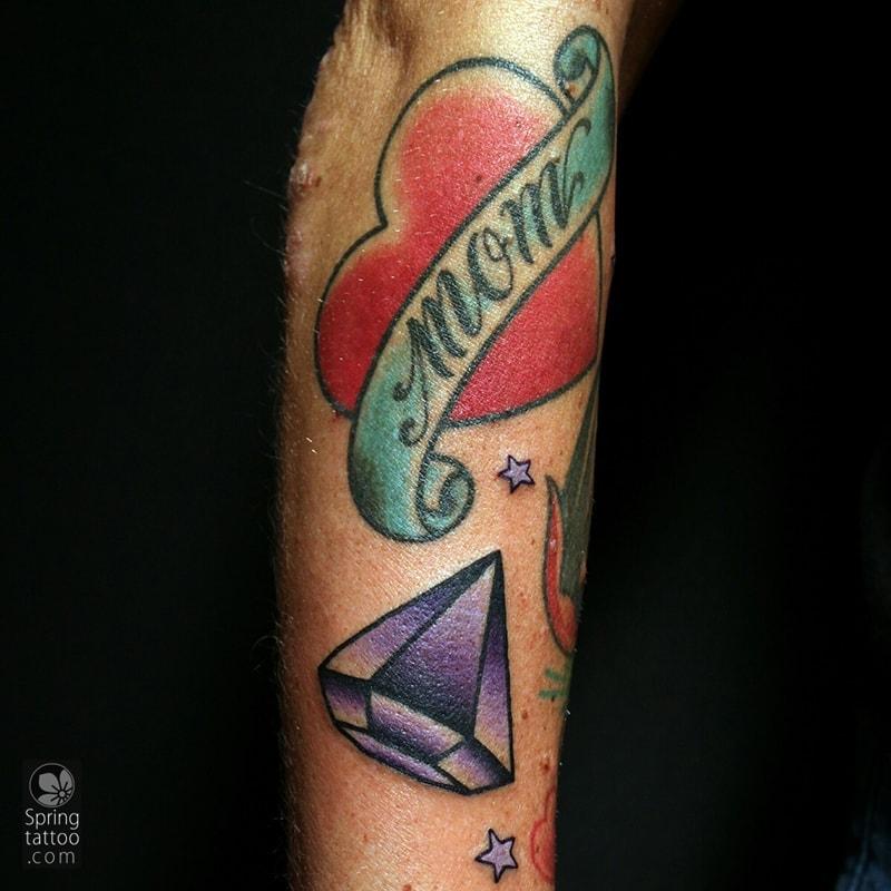 diamond tattoo by Aviv Rotshas