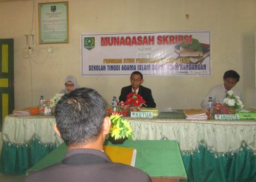 Munaqasah Skripsi STAI Darul Ulum Kandangan
