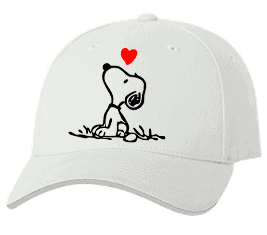 Печать на кепке промо Собачка, Печать на футболках, чашках, кепках. Индивидуальный дизайн
