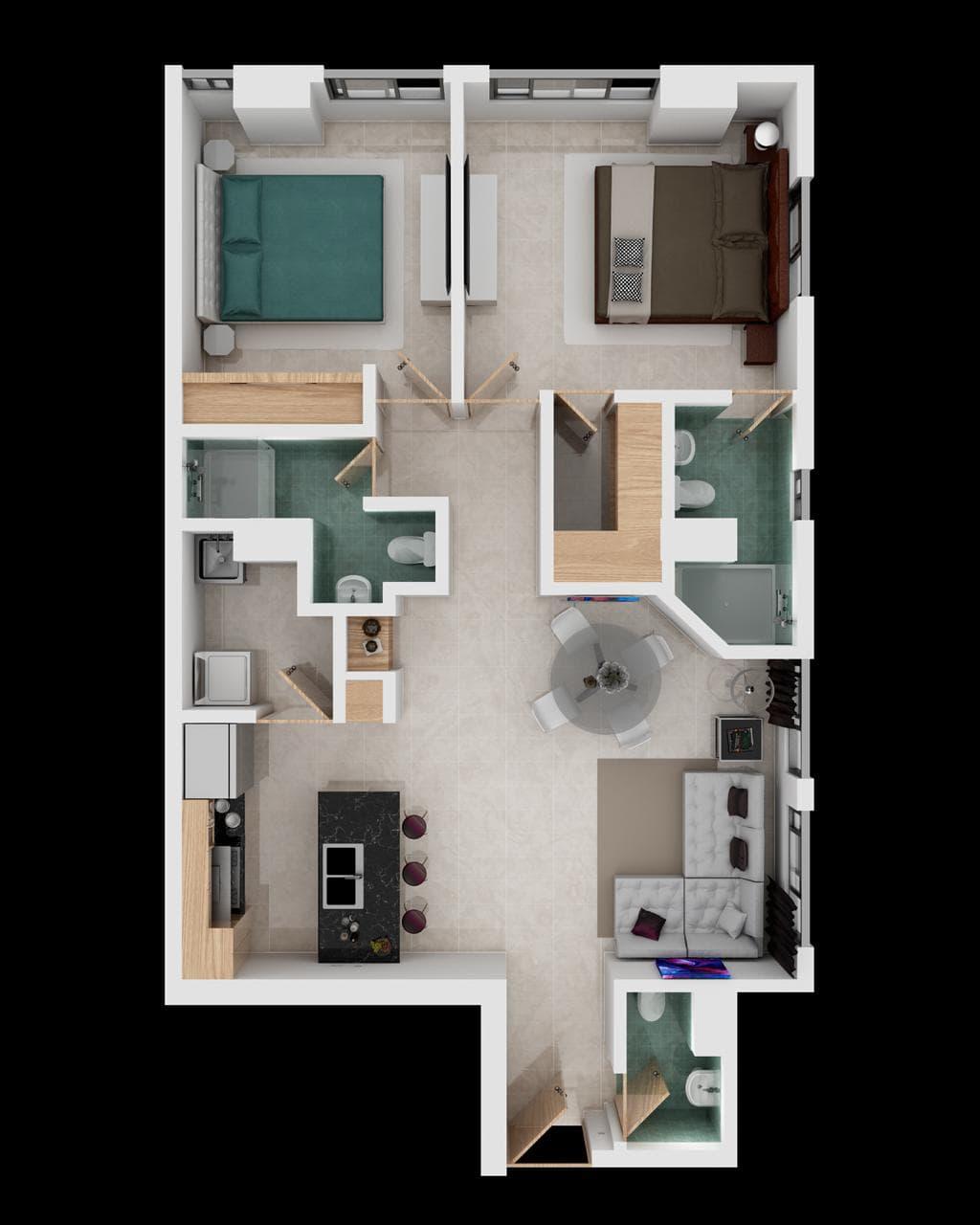 Departamento 2 habitaciones