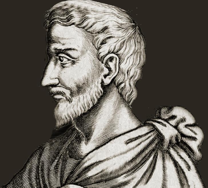 Портрет Пифагора для главной страницы
