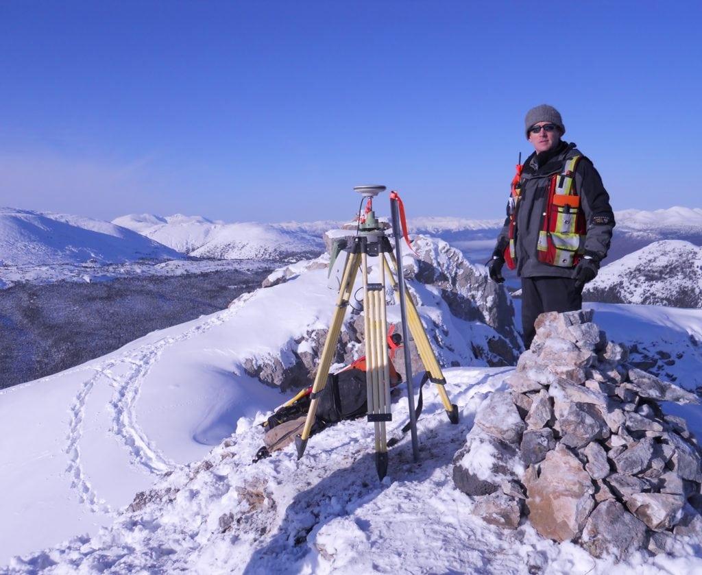 Surveying the mountain top