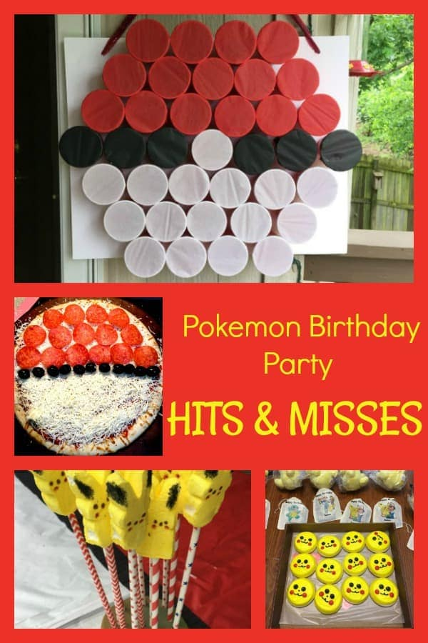 For my son's Pokemon birthday party, I tried out lots of ideas to see what would be a hit or a miss. For your Pokemon birthday party, check out how these ideas scored.  #BirthdayParty #Birthdays #BirthdayIdeas #BirthdayParties #Pokemon #PokemonParty #PokemonBirthdayParty #BoysBirthdayParty #SunflowerMom