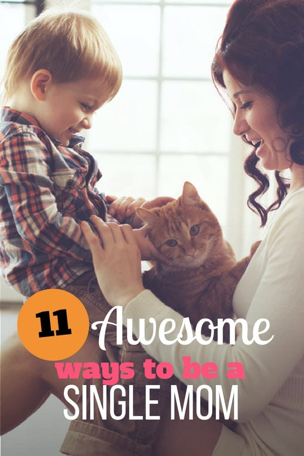 Check out these 11 tips on how to be an awesome single mom. Join the free 5-day challenge to be the best mom you can be.  #singlemom #parenting101 #singleparent #sunflowermom #positiveparenting
