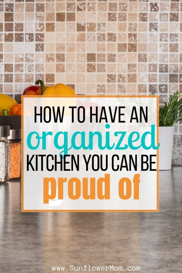 Kitchen organization tips regardless of the size of your kitchen. Step through each area in your kitchen with these tips and download your free printable. This series will help you organize your whole home in one month. #declutter #organization #sunflowermom