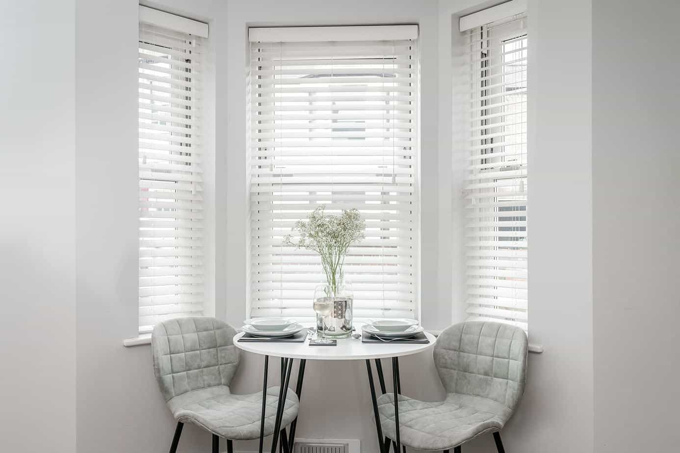 Tailored Stays Victoria Road Serviced Apartment provide a place to sit, eat and unwind after a busy day.