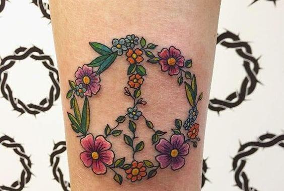 Peace Sign Tattoo Design