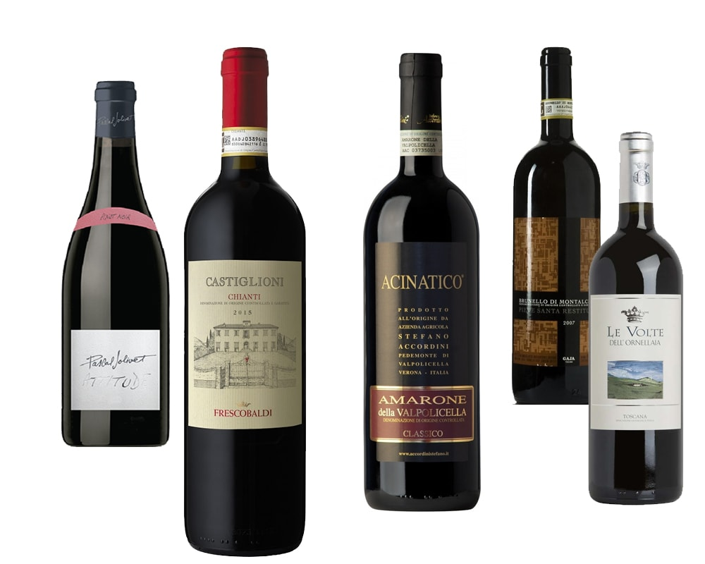 Continental red wines