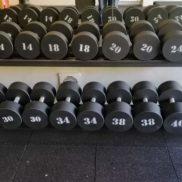 Набор гантелей 10 пар от 12 до 40 кг со стойкой