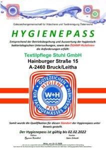 Gütezeichen-Hygienepass