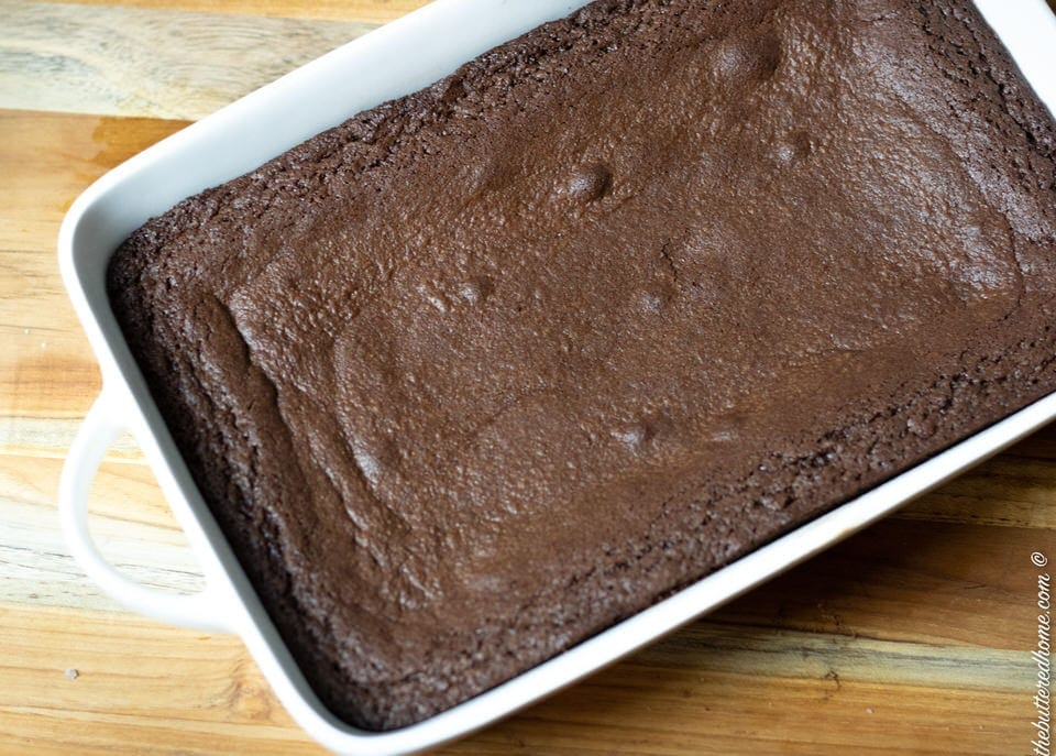 finished brownies in pan