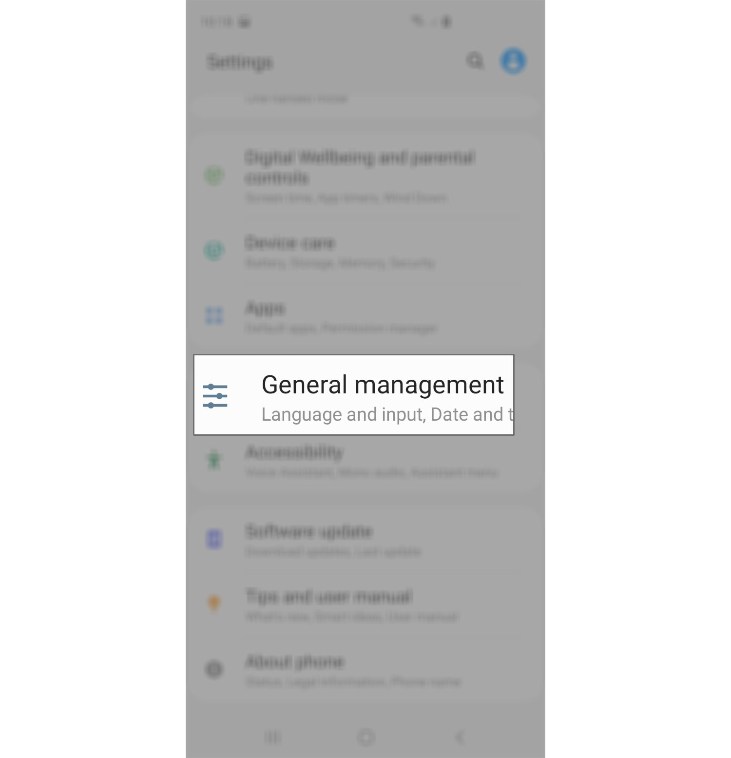 reset network settings galaxy s20 general management