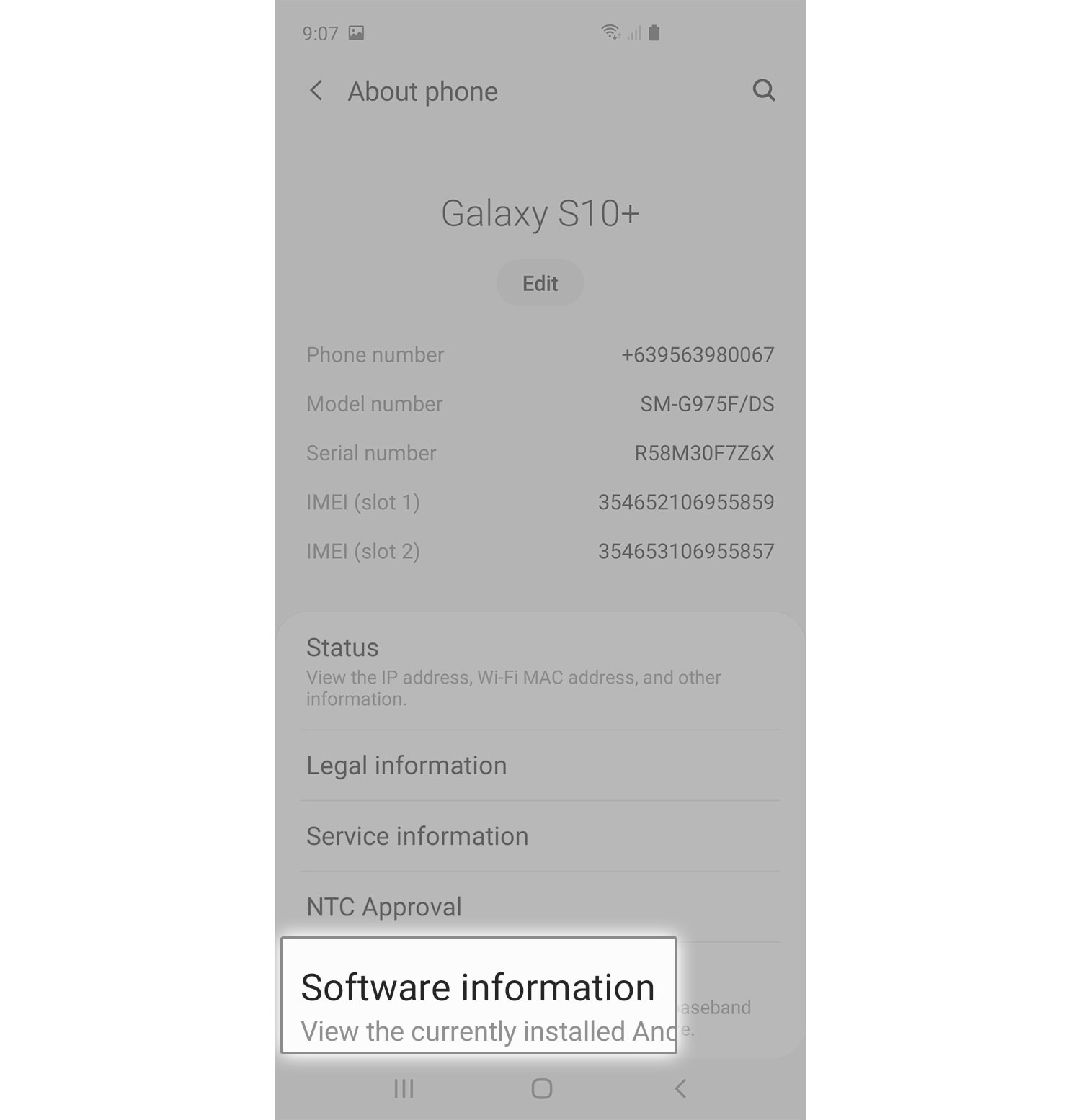 enable developer mode galaxy s10 software