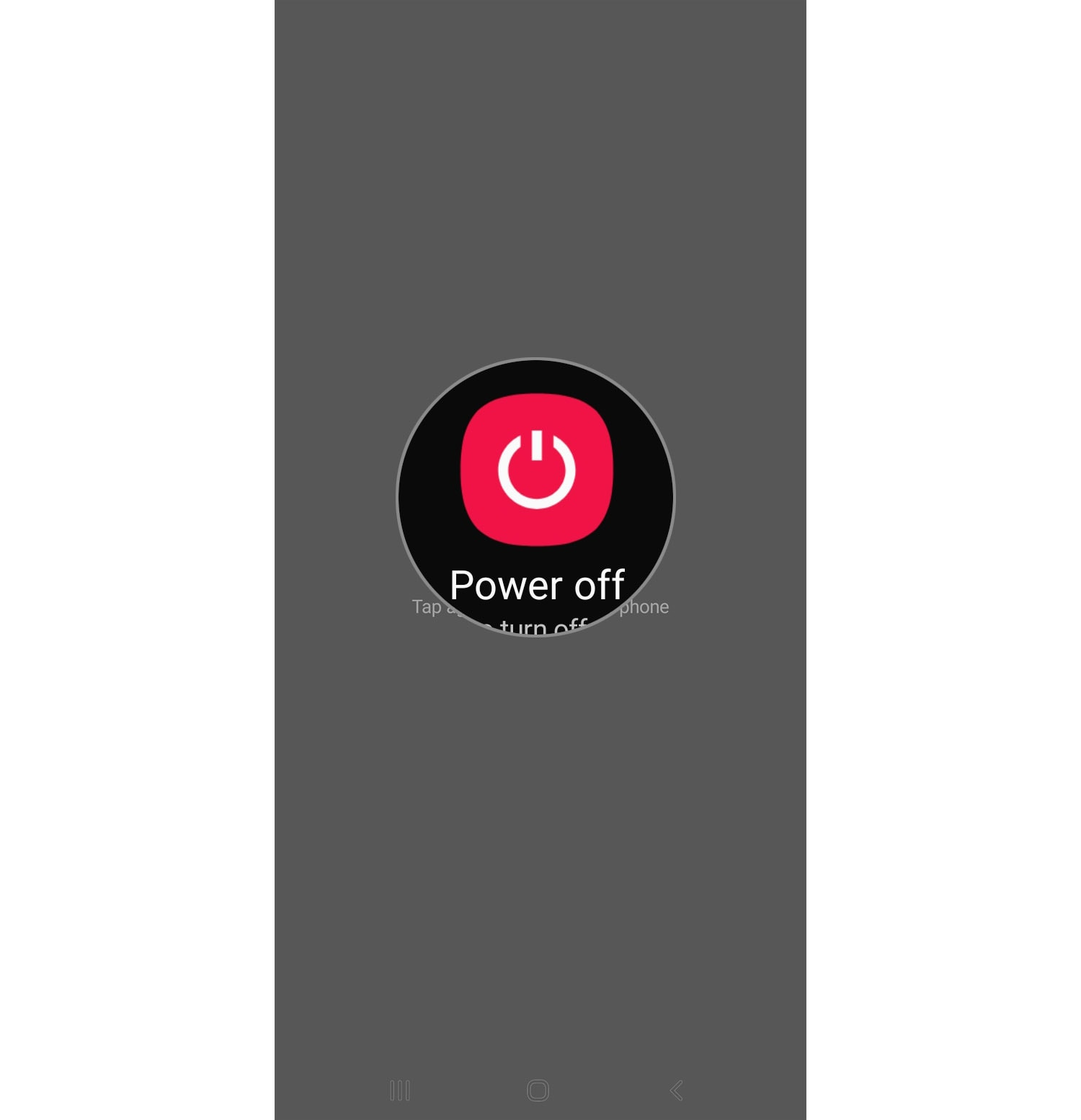 restart galaxy s10 power off