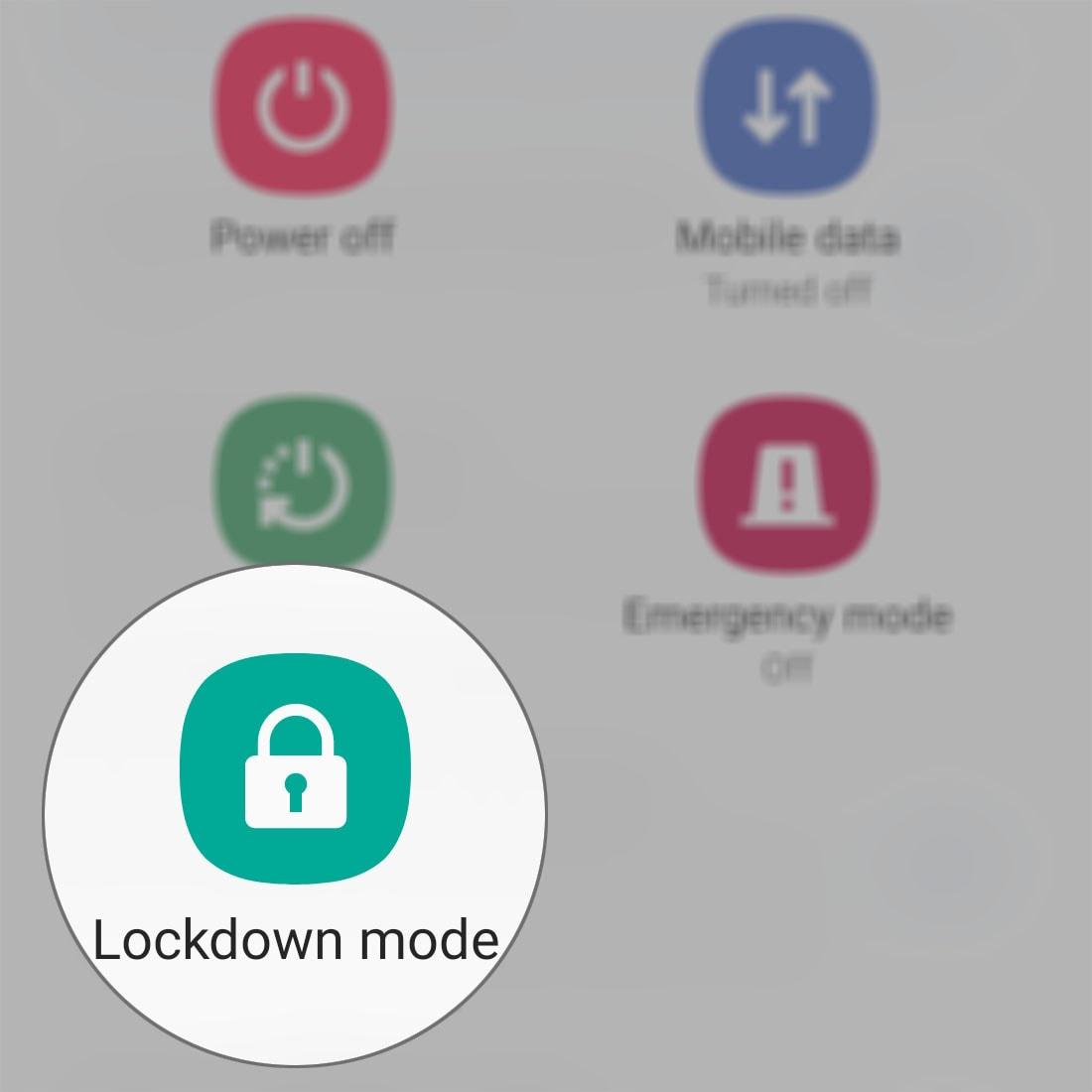 lockdown mode power option