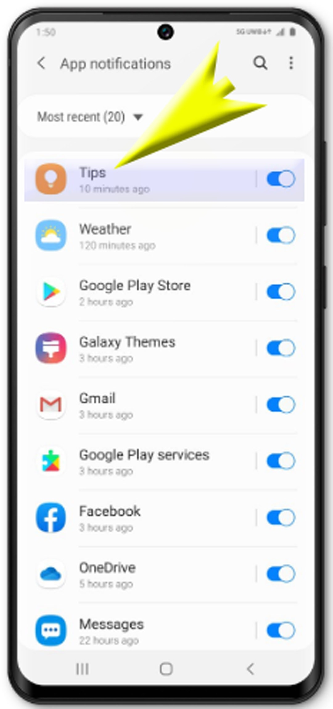change app permissions galaxy s20 - select apps to manage permissions on