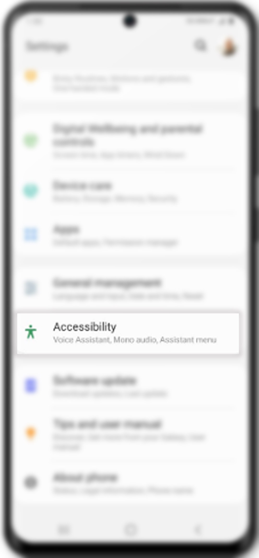 change galaxy s20 font size and style - accessibility settings