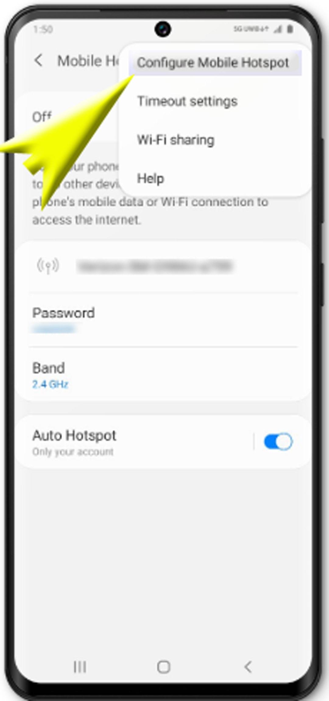 set up galaxy s20 mobile hotspot - configure mobile hotspot