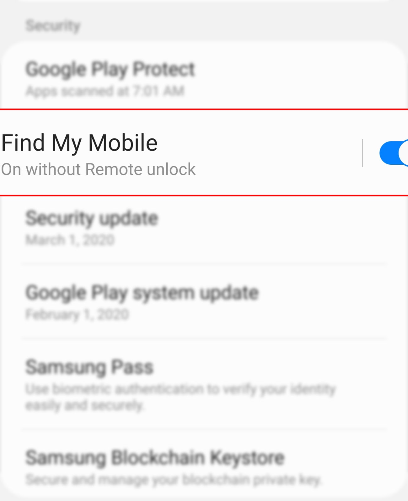 activate find my mobile remote control galaxy s20 - find my mobile settings