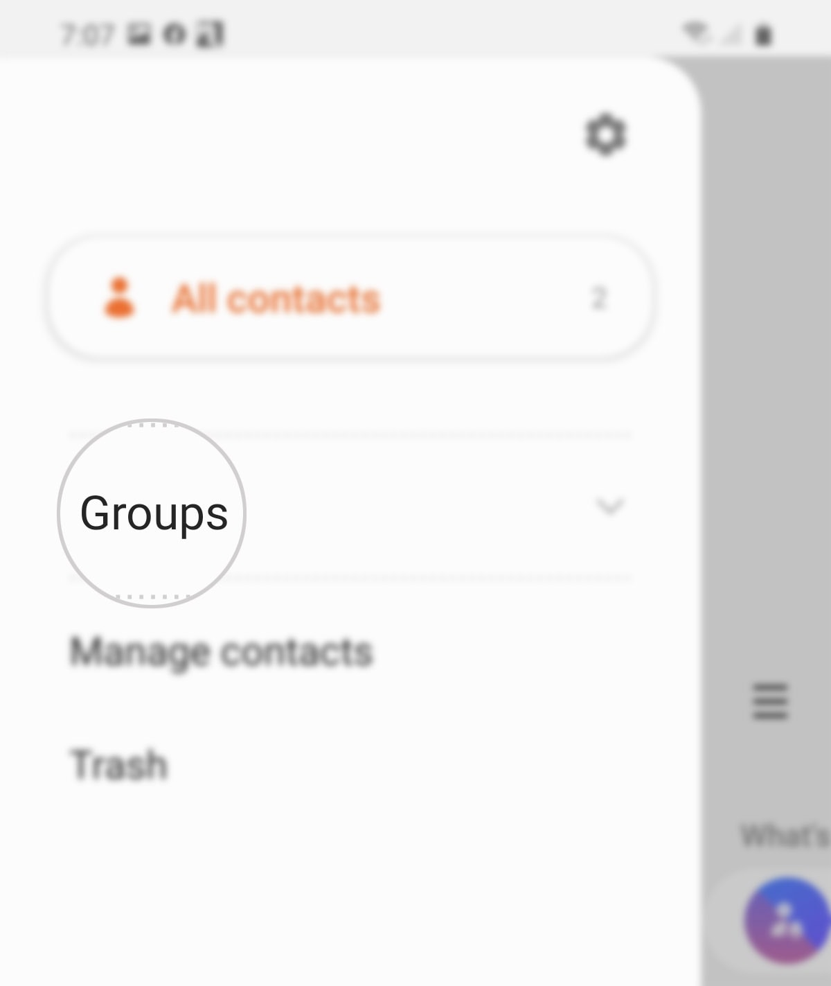 create a group contact on galaxy s20 - groups
