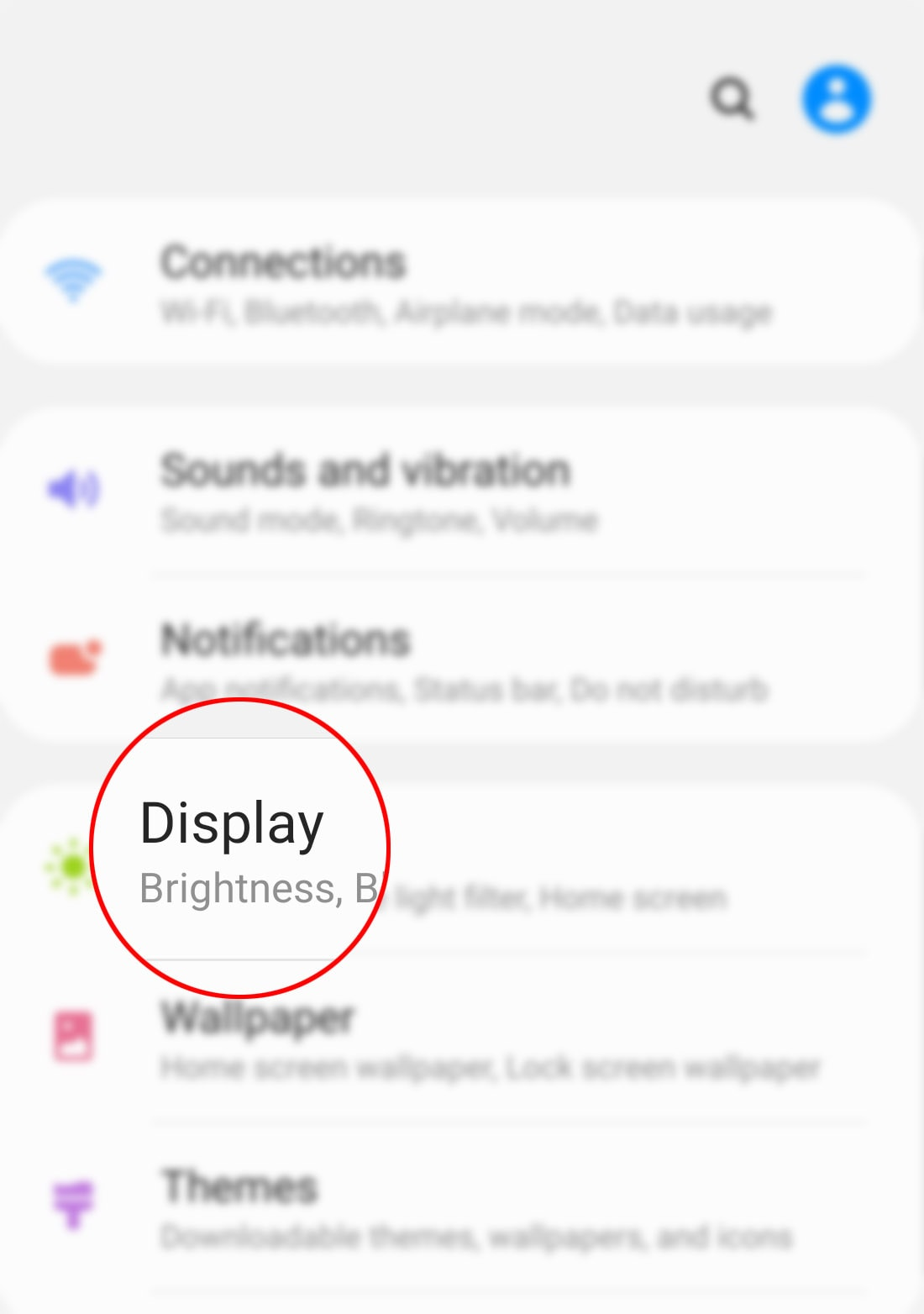 download new fonts on galaxy s20 - display settings