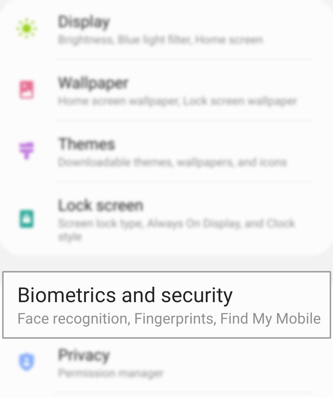 encrypt-decrypt sd card on galaxy s20 - biometrics and security