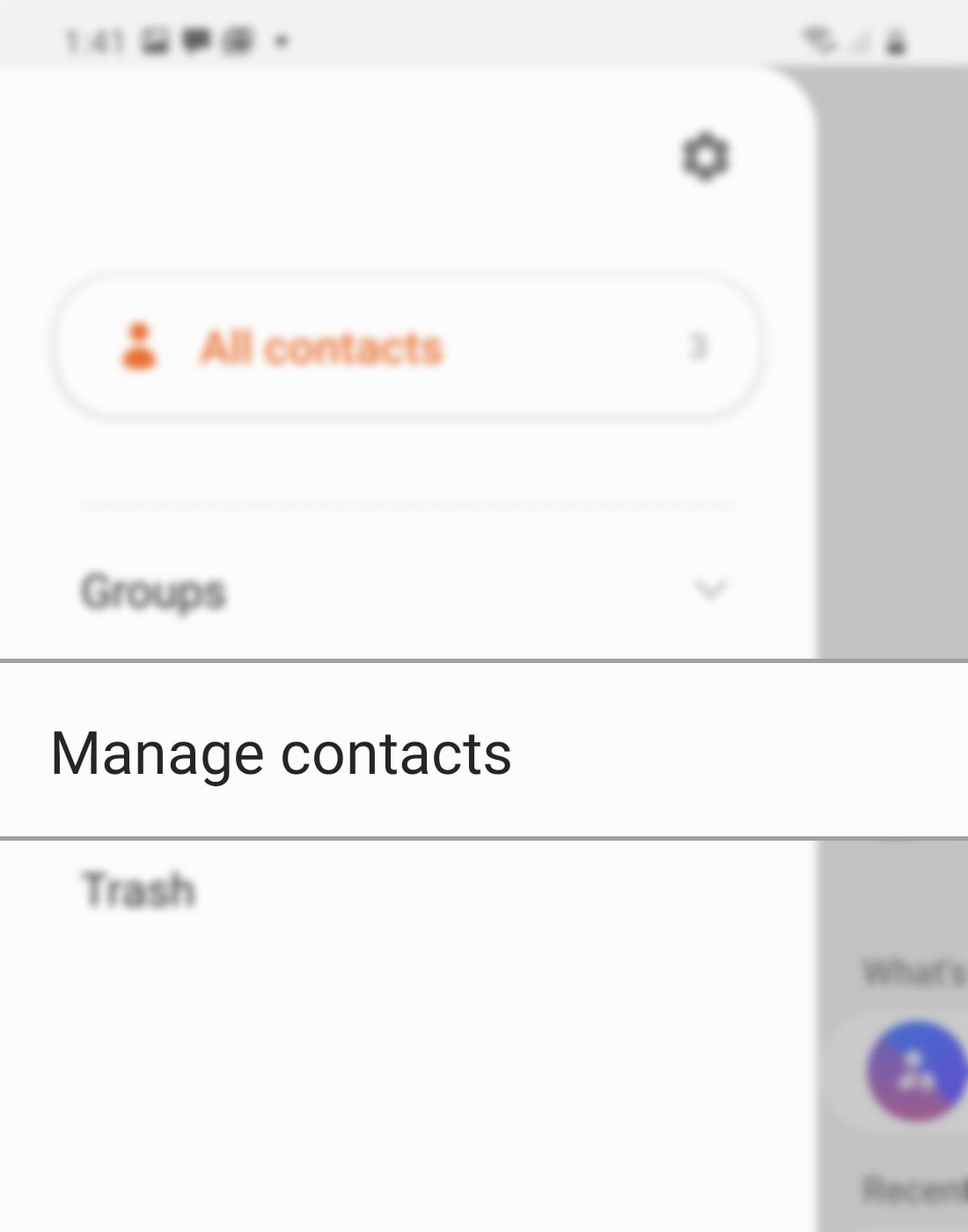 sync account contacts on galaxy s20 - manage contacts