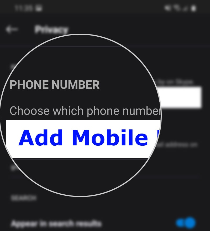 add new phone number galaxy s20 skype - add number
