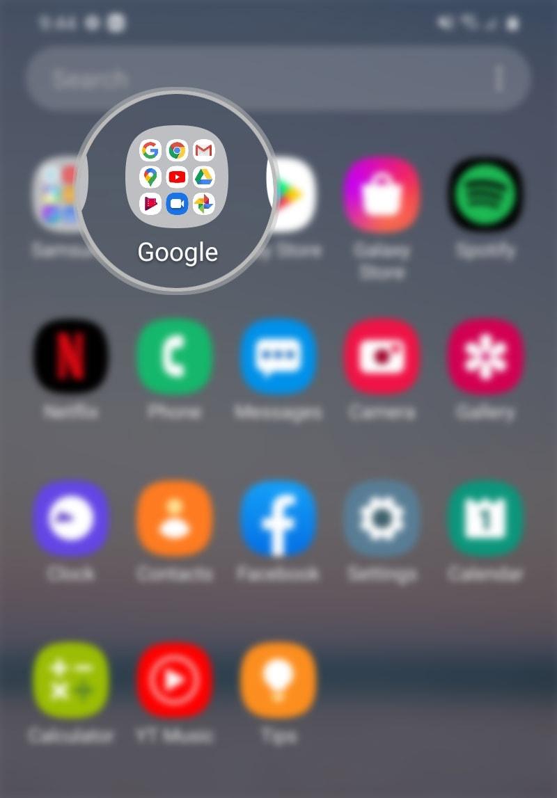 change galaxy s20 google drive theme - google suite