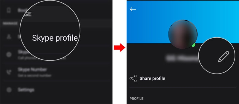 edit skype profile information galaxy s20 - edit profile name