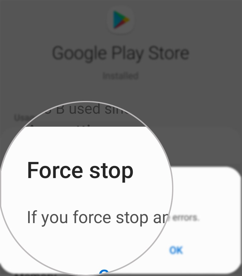 fix skype wont update on android 10 - force stop play store