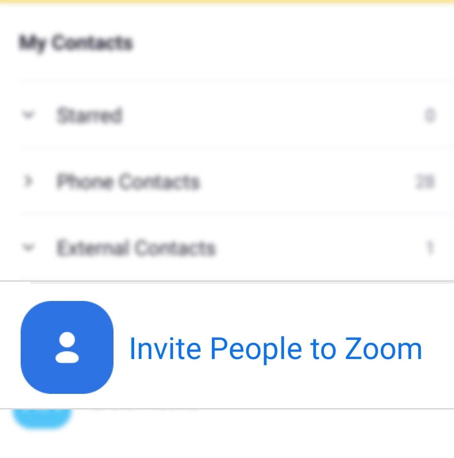 invite people to a zoom meeting galaxy s20 - send invite