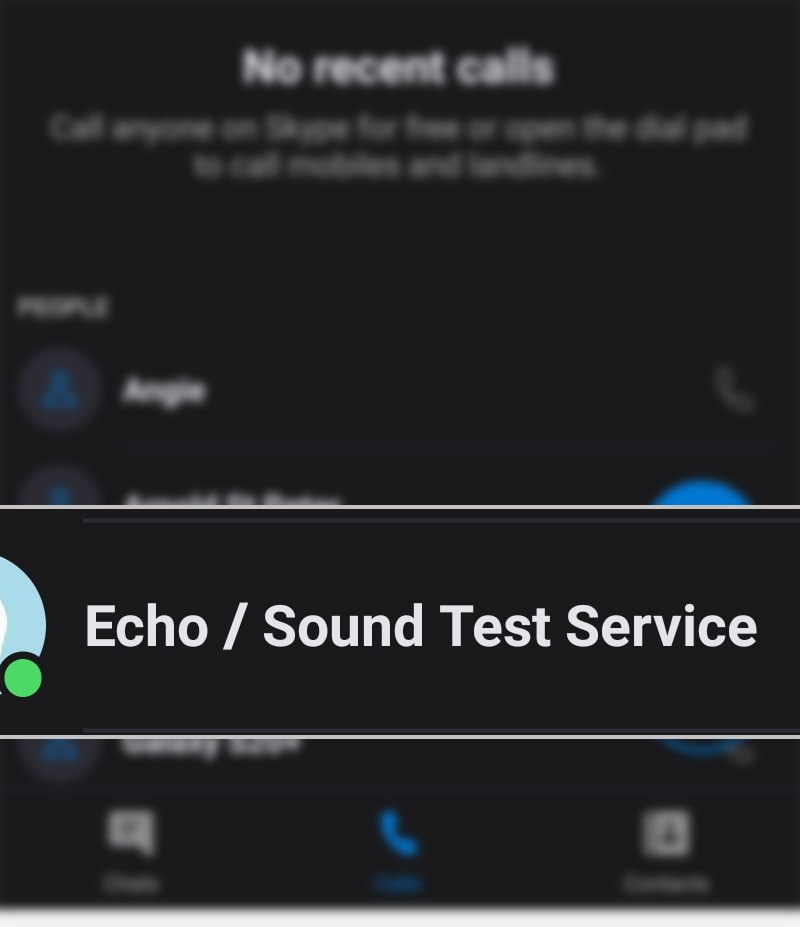 make skype echo free test call galaxy s20 - echo test call