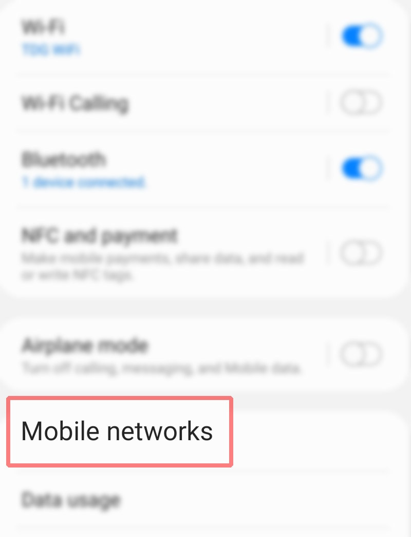 manually change galaxy s20 network mode - mobile networks
