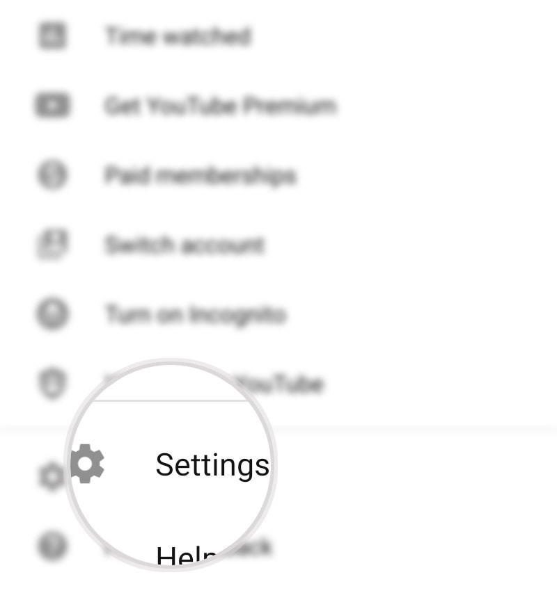 restrict mature youtube videos galaxy s20 - youtube settings