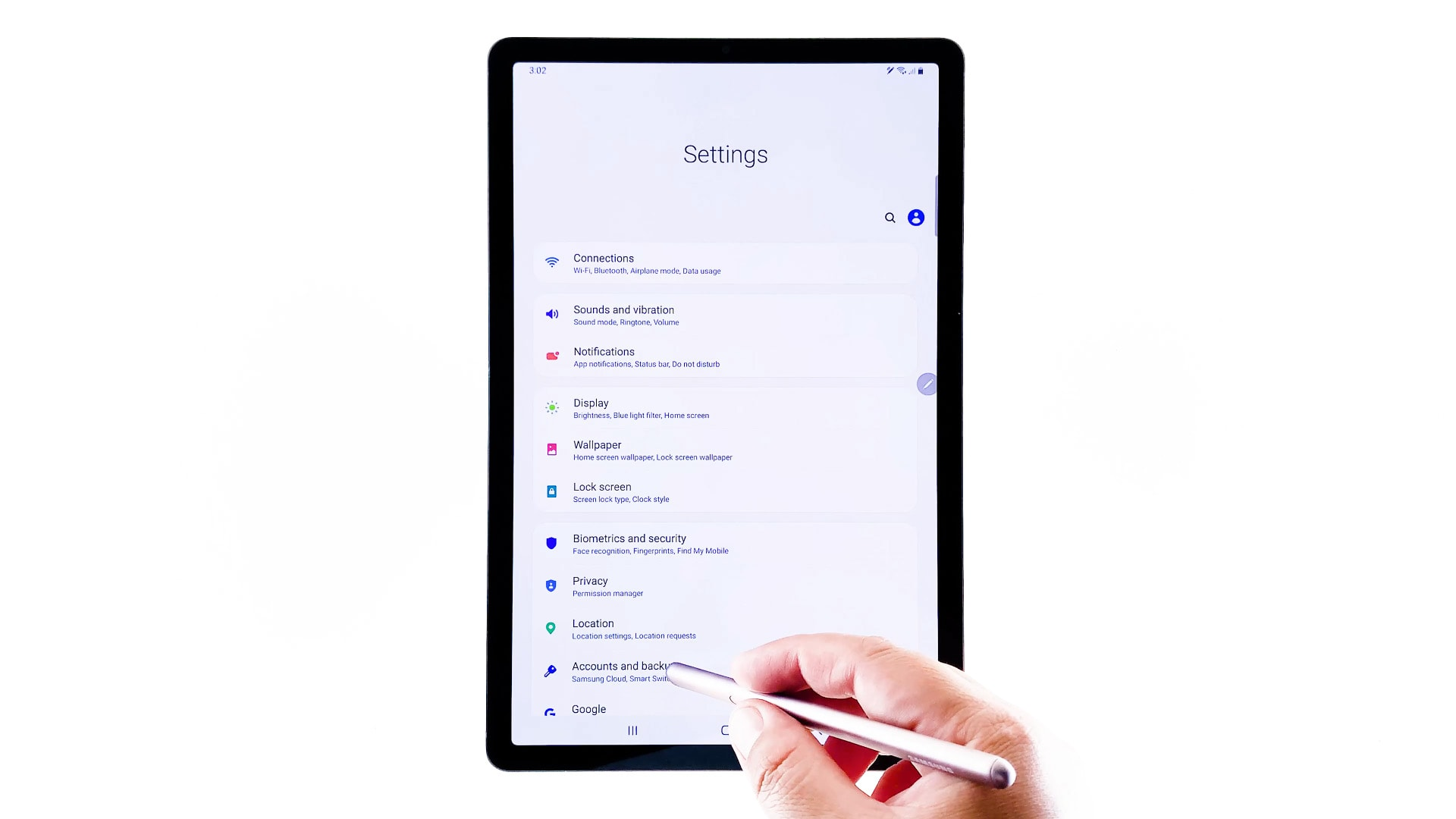 add personal email pop3 account galaxy tab s6 - accounts and backups