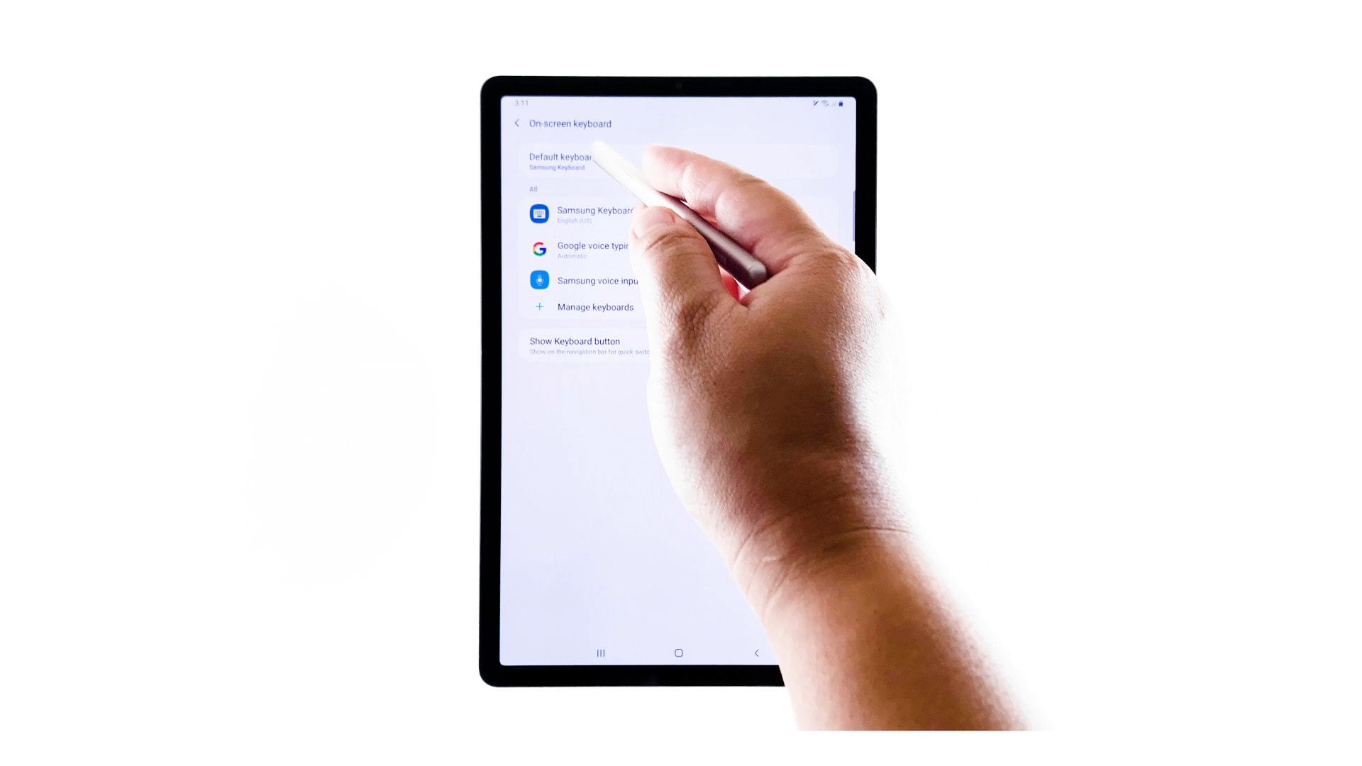 change onscreen keyboard style galaxy tab s6 - default