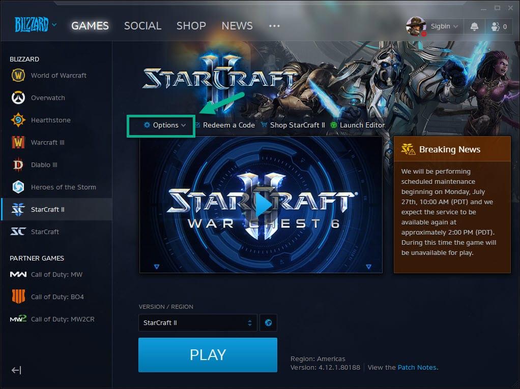 Starcraft 2 crashes in Windows 10