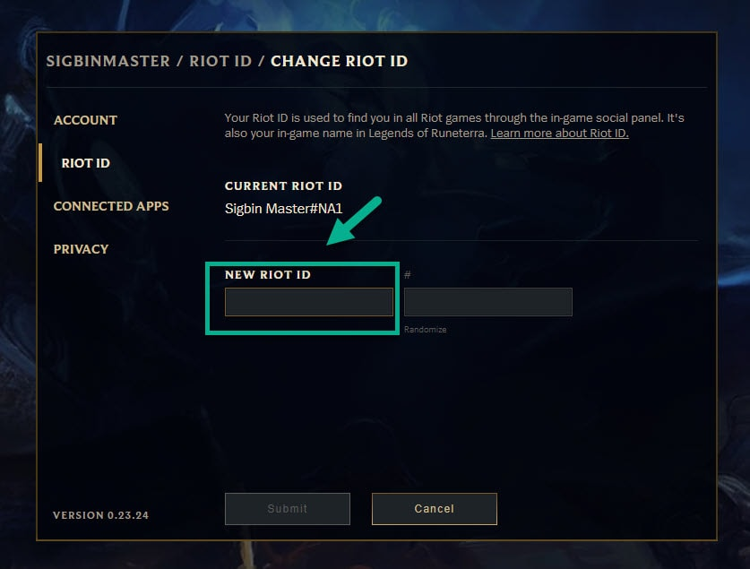 new riot id