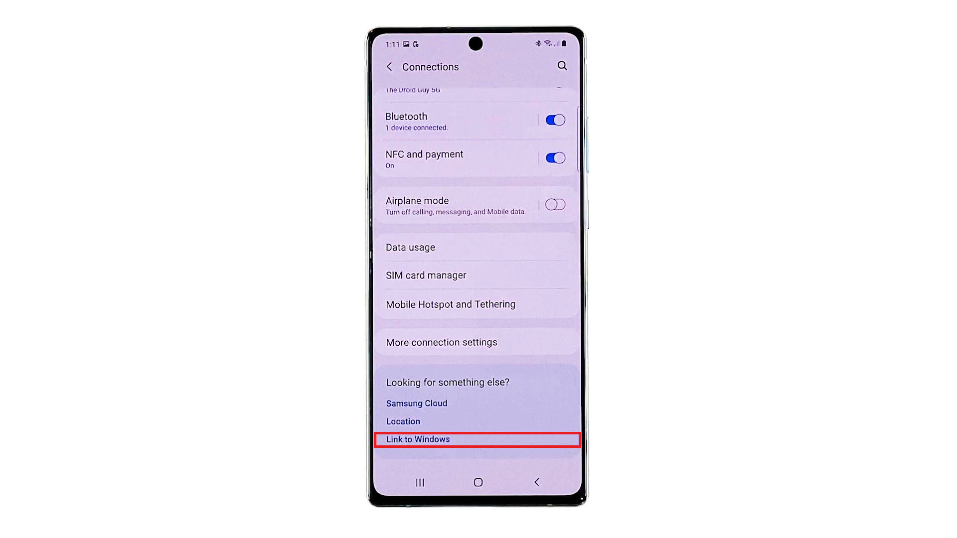 galaxy note 20 link to windows setup-link