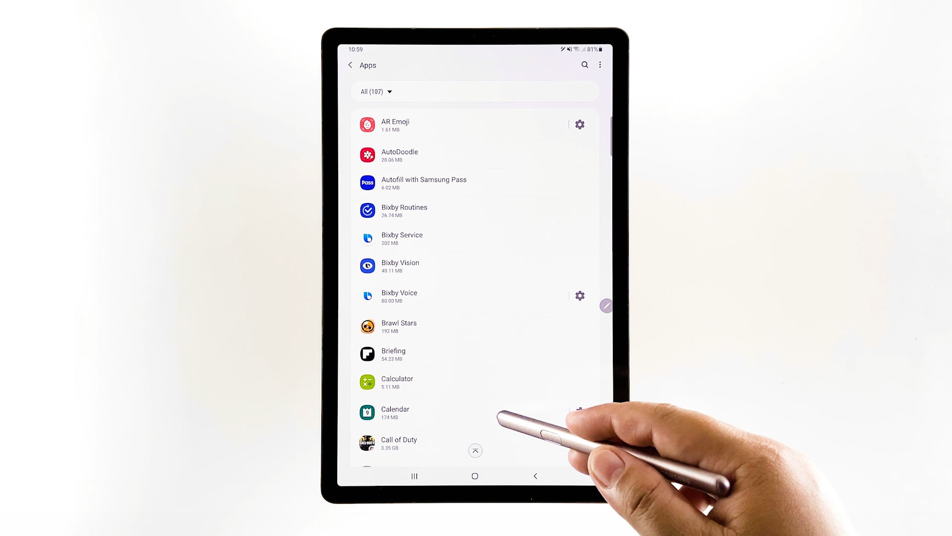 uninstall recent app updates galaxy tabs6-calendar