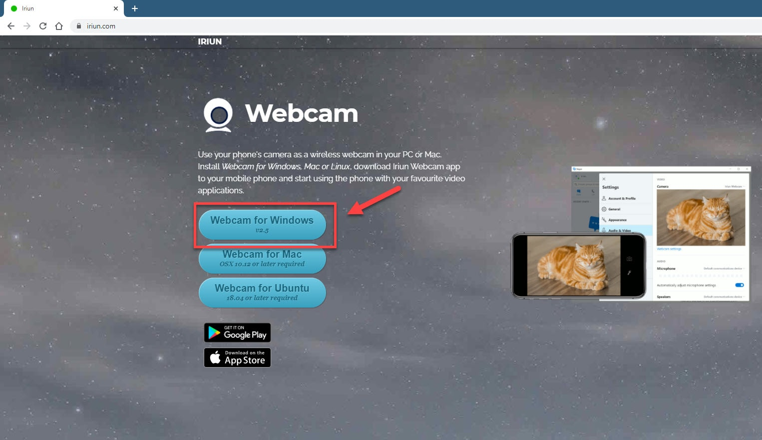 Using your smartphone as webcam in Windows 10