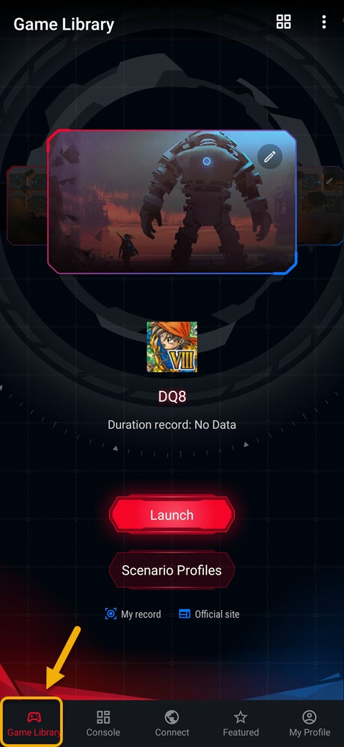 Setting a different refresh rate for each game in Asus ROG Phone