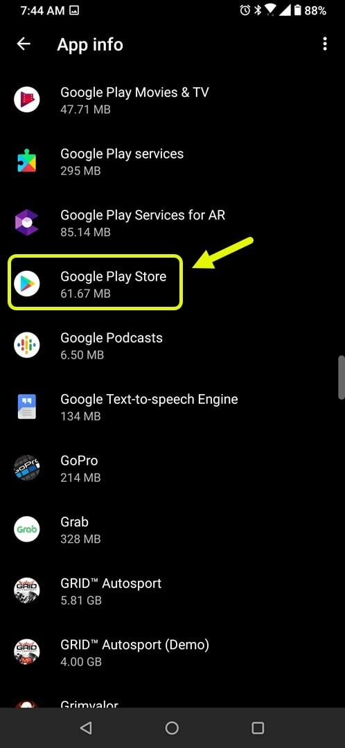 tap google play store