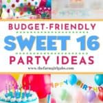 Great tips and ideas on how to plan a budget-friendly sweet 16 party. These sweet 16 birthday party ideas will go easy on your wallet and big on fun for the kids. These fun party ideas will help you create the best birthday celebration for your daughter. #birthdayparty #sweet16party #budgetfriendlyparty #sweet16partyideas #birthdaypartyideas