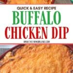 For game day or any day, this Buffalo Chicken Dip recipe is a winner. It's warm, creamy, and loaded with cheese, chicken, and wing sauce, this easy dip recipe is perfect for parties or ideal for game day tailgating!