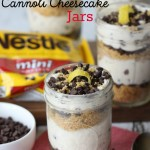 No-Bake Cannoli Cheesecake Jars are a modern spin on the classic Italian dessert. They are easy to make, delicious, and perfect for a crowd. This no-bake dessert is quick to make too. #Ad #NoBake #NestleTollHouse