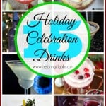 Ring in the holiday season with one of these 15+ Holiday Celebration drinks. This drink round up has something for everyone - cocktails and mocktails. It's the perfect way to celebrate Christmas and New Year's.