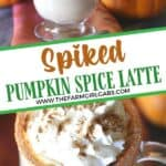 It's Pumpkin Spice Latte season. How about a boozy twist to the favorite fall pumpkin drink? Raise a mug to this delicious Drunken Pumpkin Spiced Latte. This simple recipe is the perfect adult fall drink.