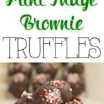 Fudge brownies and mint pair up to create these delicious Mint Fudge Brownie Truffles. Sink your teeth into this decadent truffle recipe which is perfect for the holidays.